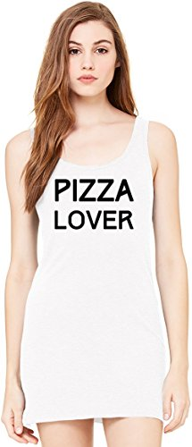 Pizza Lover Tunica Smanicata Bella Basic Sleeveless Tunic Tank Dress For Women| 100% Premium Cotton| Large