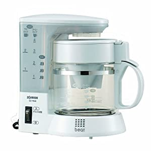 Amazon.com: ZOJIRUSHI coffee makers [Cup approximately 1 ~ 4 tablespoons] EC-TB40-WG white grey ...