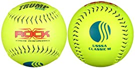 Trump® X-ROCK-CLAS-Y-2 The Rock® Series 12 inch Softball - Yellow Composite Leather - USSSA Approved (Sold in Dozens)