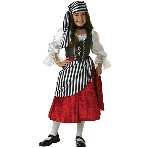 Pirate Girl Elite Collection Costume (Girl - Child X-Small 4)