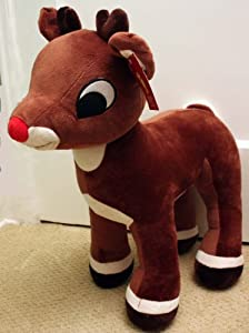 "Large Rudolph The Red-Nosed Reindeer 20"" Plush Stuffed Animal"