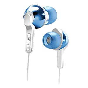 iLuv iEP322BLU City Lights In-Ear Earphones - Ultra Bass - Blue (Discontinued by Manufacturer)
