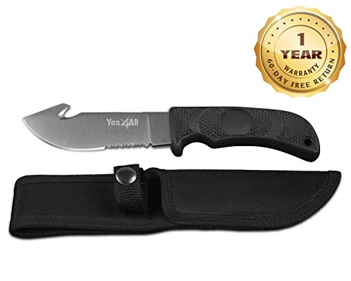 "9.25"" Tactical Hunting Survival Knife Skinner Gut Hook Fixed Blade + Nylon Sheath H140 - Speicial Promotion - ²H88LZ"