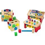 Melissa & Doug Shape Sorting Cube with Pounding Bench