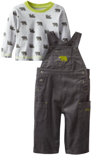Little Me Baby-boys Infant Bear Overall Set,