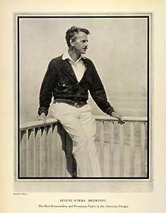 1924 Print Eugene O'Neill Drama Portrait Nickolas Muray Nobel Playwright Play - Original Halftone Print