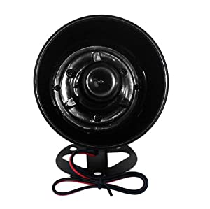 Skque Universal Electronic Car Siren Horn Loud Speaker Alarm, Black