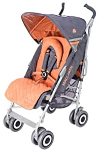 Maclaren Techno XLR Buggy Stroller Charcoal and Burnt Orange (Discontinued by Manufacturer) (Discontinued by Manufacturer)