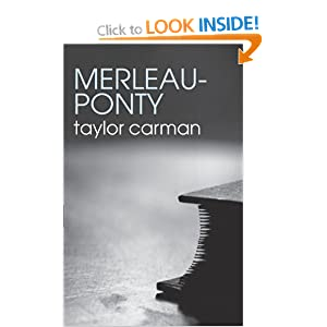 Merleau-Ponty Taylor Carman