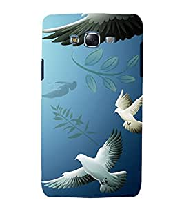 printtech Peace Pigeon Abstract Back Case Cover for Samsung Galaxy J7 (2016 )