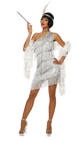 Dazzling Silver Womens Flapper