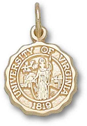 Virginia Cavaliers Official Seal 1 2 Charm - 14KT Gold Jewelry by Logo Art