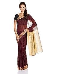 Boondh Net Saree With Blouse Piece - B00NZ3D0BU
