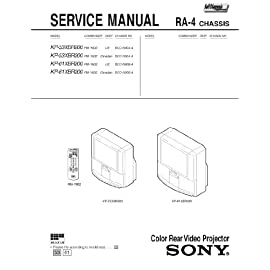 SONY KP53S76 Service Manual