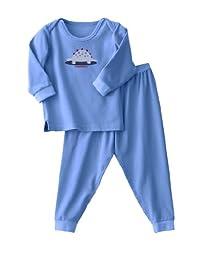 HALO ComfortLuxe Little Girls\' 2 Piece Set Flannel, Blue Dino, 2T