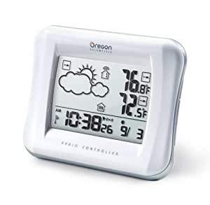 Oregon Scientific Weather Forecaster with Temperature Display and Self-Setting Atomic Clock