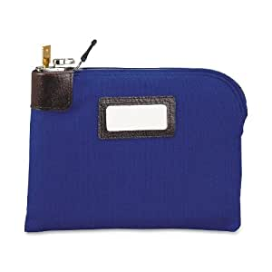 MMF Industries Seven-pin Security/Night Deposit Bag with 2 keys, Cotton Duck, 11 x 8-1/2 Inches, Royal Blue (2330881W08)