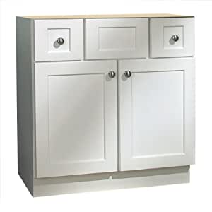 Coastal Collection CAP-3018 Cape Cod Series Maple with White Finish Vanity Base, 30-Inch-by-18-Inch