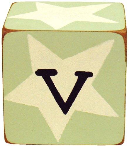 New Arrivals Letter Block V, Green/White