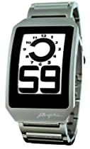 Phosphor Unisex DH03 Digital Hour E-INK Curved Metal Band Watch