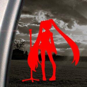 ボーカロイド 初音ミク Decal コスプレ ウィッグ アート ステッカー Mac カー ウィンドウ シール ノートPC ノートパソコン Red 2 【並行輸入品】