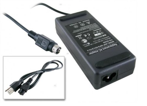"""Replacement Dell Lcd Ac Adapter For Dell 20.1"""" Flat Panel Tft Lcd Monitor Dell Ultrasharp 2001Fp,90W 20V 4-Pin Din"""