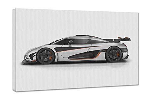2014 Koenigsegg Agera One 1 3 18X24 Gallery Wrapped 3/4