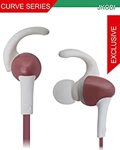 Jkobi Sports Series C Shape Fitness Wired Earphone Headset Compatible For Huawei SnapTo -Rose Gold