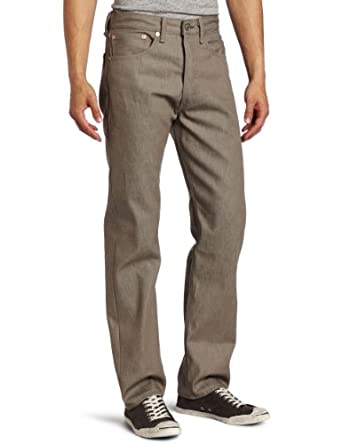 Levi's Men's 501 Shrink To Fit Straight Leg Jean, Taupe Rigid, 34x34
