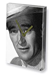JOHN WAYNE - Canvas Clock (LARGE A3 - Signed by the Artist) #js003