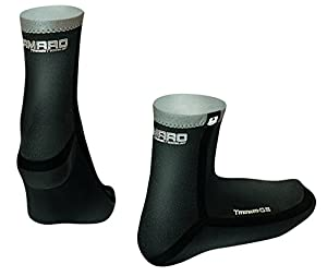Camaro Titanium 0.5mm Seamless Waterproof Socks, Black, 37/38