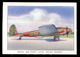 1935 Wings Cigarettes Series C (Non-Sports) Card# 47 RAF long range bomber B-17C ExMt Condition