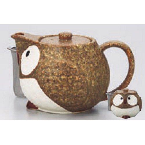 teapot kbu505-17-232 [4.34 x 3.75 inch : 48 cc] Japanese tabletop kitchen dish Owl pot pot ( tea) ( Kagoami with ) [11 x 9.5cm ? 480 cc ] inn restaurant tableware restaurant business kbu505-17-232