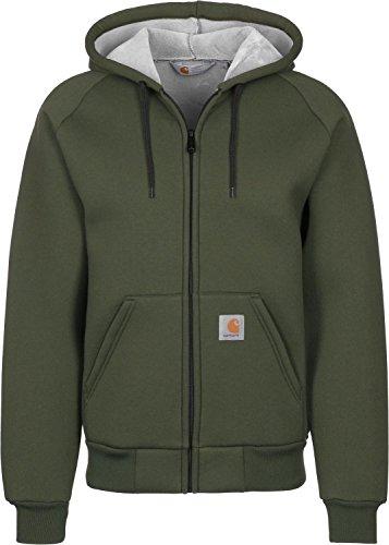 Carhartt, Car-Lux Hooded Jacket - felpa da uomo, colore cypress/grey, taglia M
