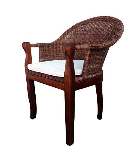 SAM-Rattan-Esszimmer-Stuhl-COBRA-in-Farbe-braun-mit-Armlehnen-Kissen-inklusive