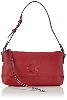 Calvin Klein Jeans MEL SMALL SHOULDER BAG 2 J6EJ600380 Damen Schultertaschen 23x13x4 cm (B x H x T), Rot (CRIMSON RED 618)