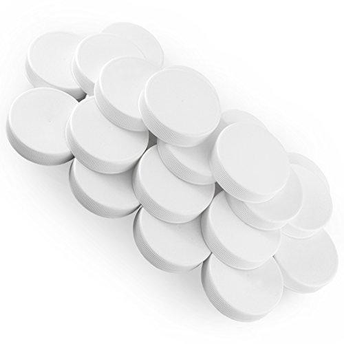 White Plastic Standard Mason Jar Plastic Lids-24 Lids (Plastic Jars With Metal Lids compare prices)
