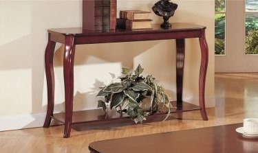 Cheap Dark Cherry Finish Console Table (F6152)