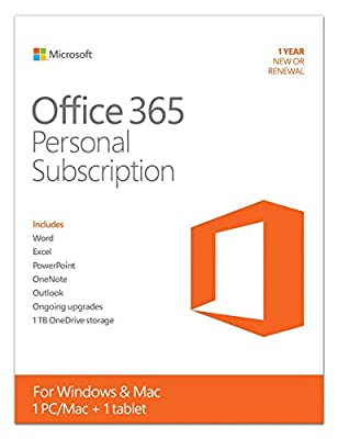 Microsoft Office 365 Personal 1 Year | PC or Mac