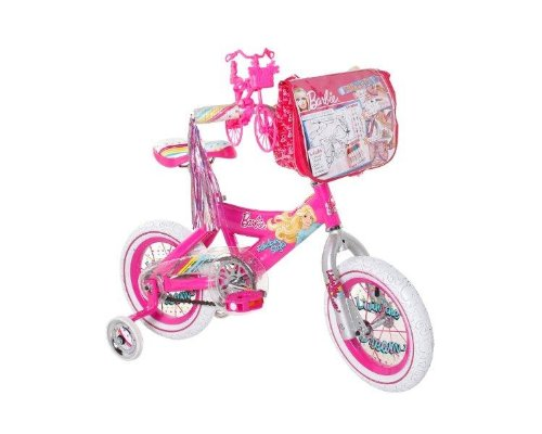 Barbie Girl`s Barbie Bike, Pink/White, 12-Inch