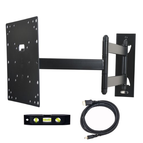 VideoSecu TV Mount Single Arm Articulating Wall Bracket for