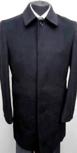 MUGA mens Coat concealed button front, Black, Size 40R (EU 50)