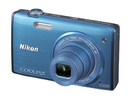 """Nikon Coolpix S5200 Appareil photo numérique compact 16 Mpix Ecran 3"""" Zoom optique 6x Bleu"""