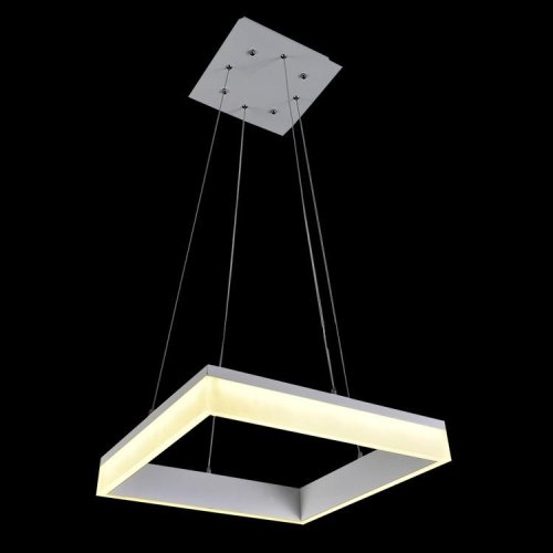 Lightinthebox 28W Square Led Modern Pendant Light, 100~240V Inputhome Ceiling Light Fixture Flush Mount, Pendant Light Chandeliers Lighting,Color=Cold White