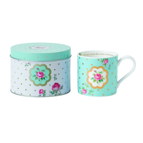 Royal Albert Seasonal Mug In A Tin, Polka Blue