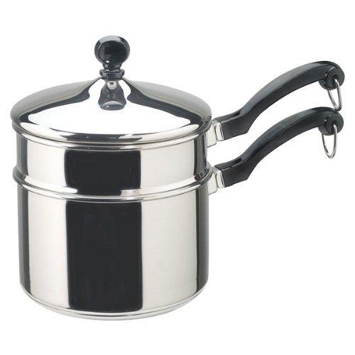 Farberware 50057 2 Qt. Covered Saucepan with Double Boiler Insert