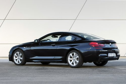 """Bmw 640D Xdrive Coupe (2012) Car Art Poster Print On 10 Mil Archival Satin Paper Black Rear Side Static View 20""""X15"""""""