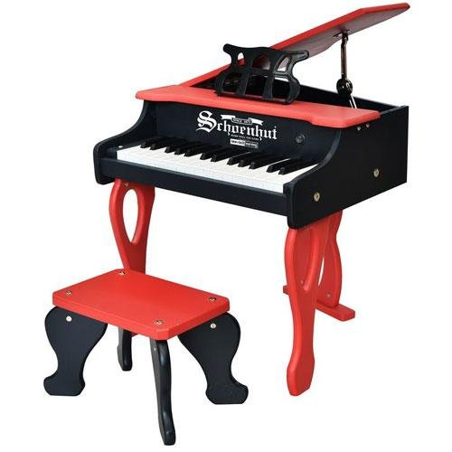Schoenhut 30 key two tone digital baby grand piano with bench for What are the dimensions of a baby grand piano