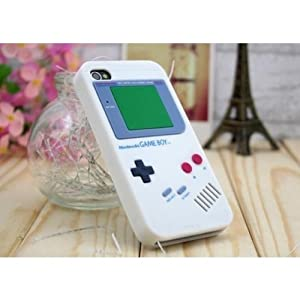 SANOXY® Iphone 4S 4 Nintendo Game Boy Silicone Case White Color HIGH QUALITY GUARA...