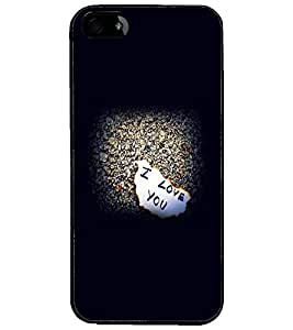 PrintDhaba I Love You D-2120 Back Case Cover for APPLE IPHONE 4 (Multi-Coloured)